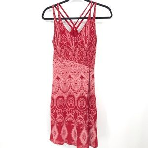 Athleta Small Red Knotted Nanda Dress